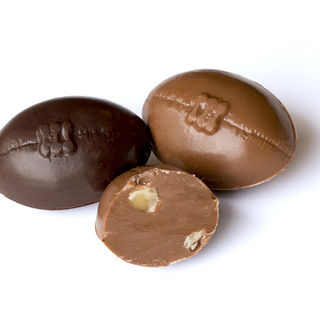 Single Chocolate Rugby Balls