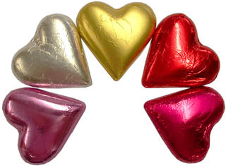 Large Hearts Dark Chocolate (40pce)