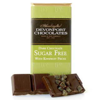 Sugar Free Dark Chocolate with Kiwifruit Pieces
