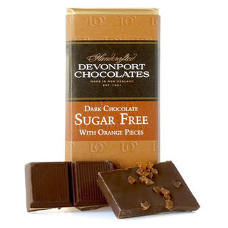 Sugar Free Dark Chocolate with Orange Piece