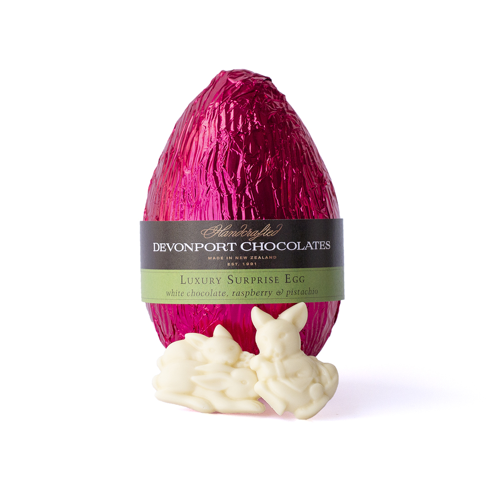 NEW Surprise Easter Eggs White Chocolate Raspberry, Pistachio and Lime