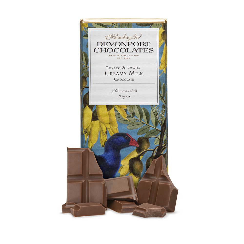 Pukeko & Kowhai Creamy Milk Chocolate Outer of 12
