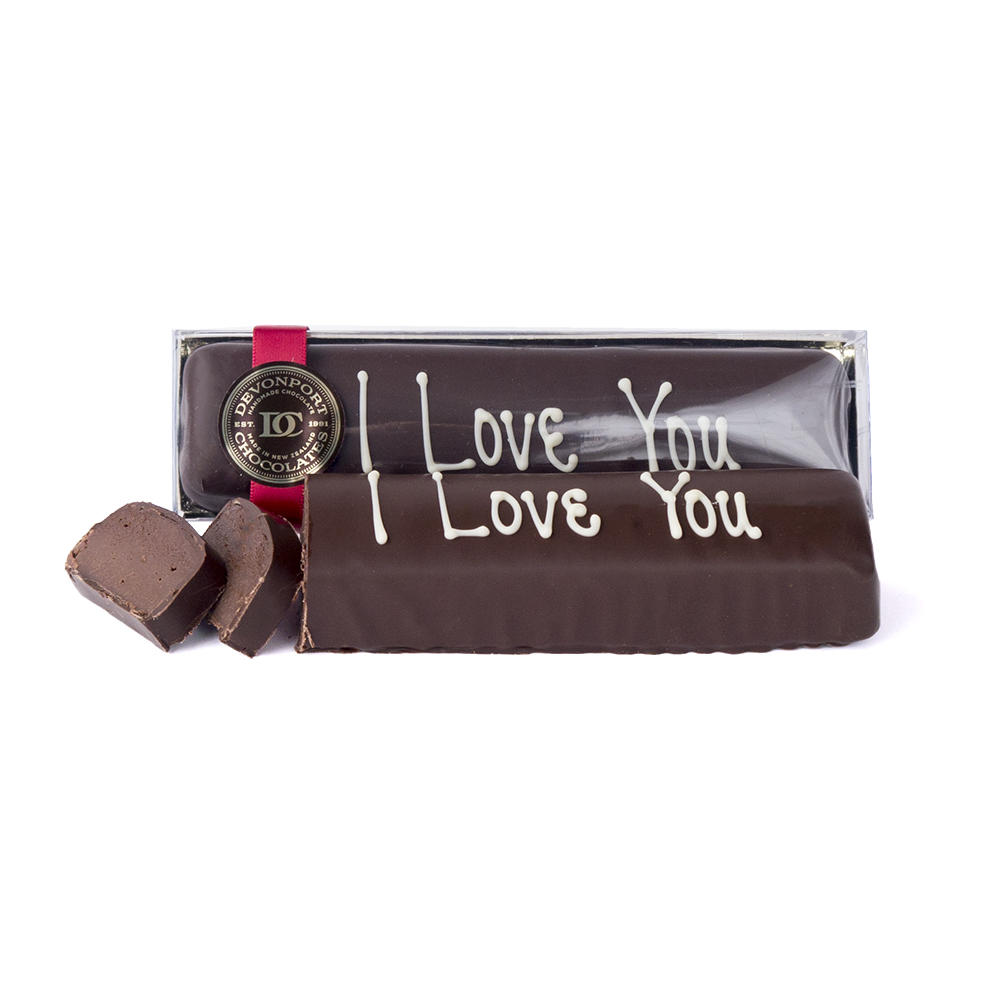 'I Love You' Truffle Slice